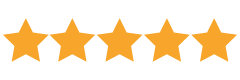 Five star customer rating